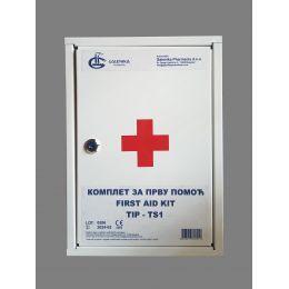Ormarić za prvu pomoć (zidna apoteka) sa osnovnim sadržajem