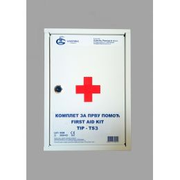 Komplet za pružanje prve pomoći - ormarić (za do 20 zaposlnih)
