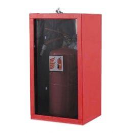 Ormarić za protivpožarni aparat S-9 sa staklenim vratima i bravicom